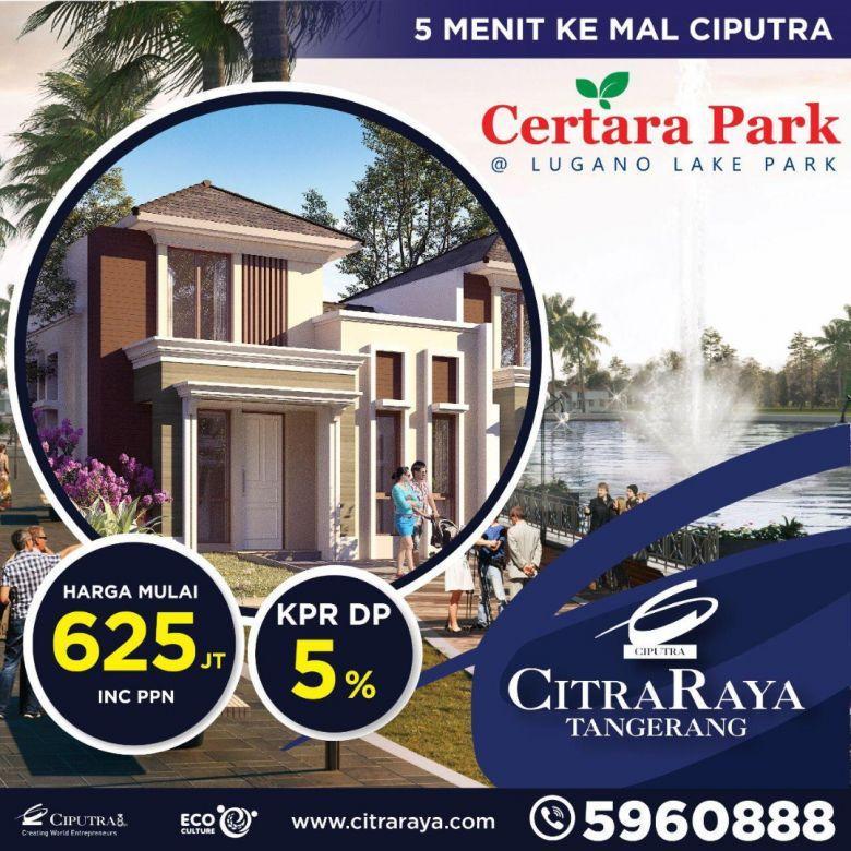 Dijual Rumah Strategis di Certara Park, Citra Raya, Tangerang