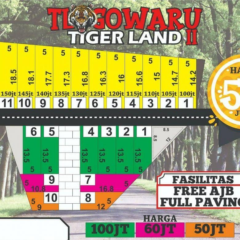 tanah kavling siap bangun di Tiger Land Kedungkandang Malang