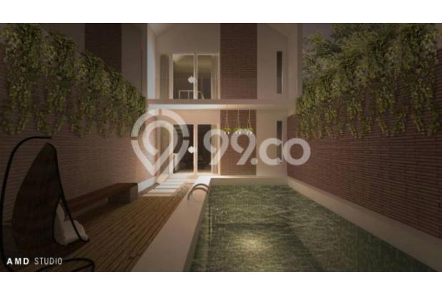 Rumah 2 Lantai dengan Fasilitas Kolam Renang Pribadi Di Bandung Murah 13245018