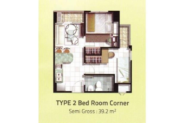 Dijual Apartemen Serpong Greenview ( 2BR), BSD , Tangerang