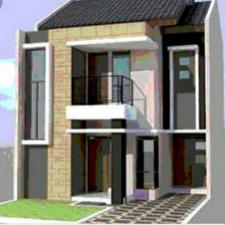 rumah dijual the residence at kavling hankam dua lantai