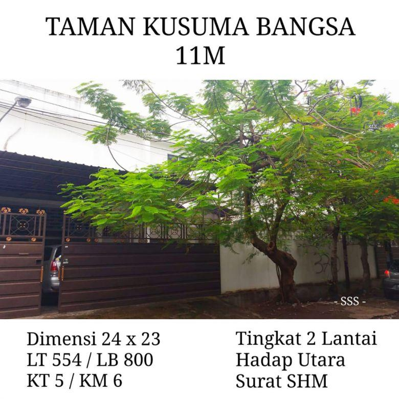 Rumah Taman Kusuma Bangsa Surabaya Tengah Kota Dekat Gubeng