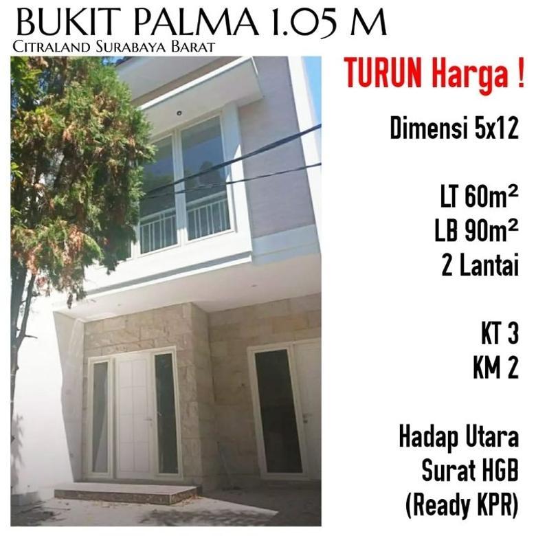 Rumah Baru Gress 2 Lantai Bukit Palma Citraland