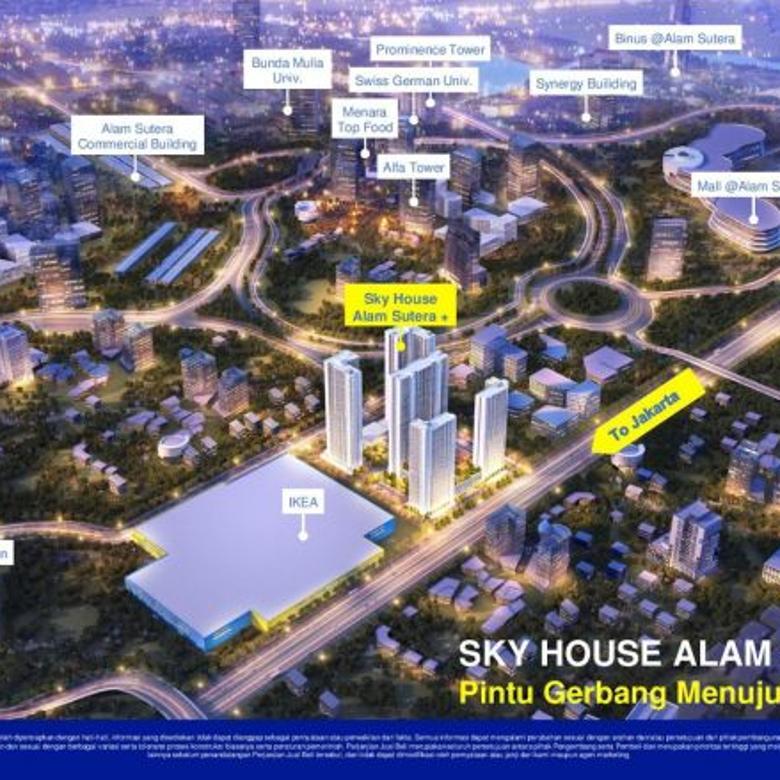 Dijual Apartemen Skyhouse Termurah dan Paling Strategis Di Alam Sutra IKEA