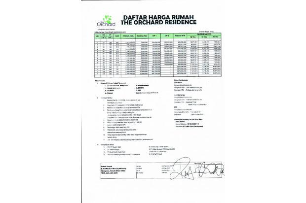 Penting, Beli Rumah Tanya Legalitas: ORCHARD Residences ADA IZIN PIEL BANJI 13960830