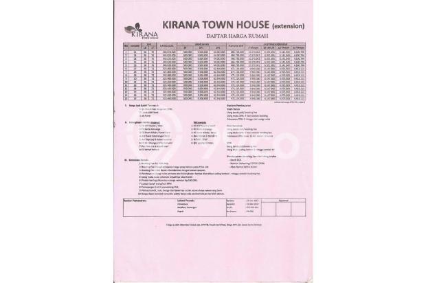 Kirana Town House DP 10 Jt, Dapat Bonus Umroh* 14371404