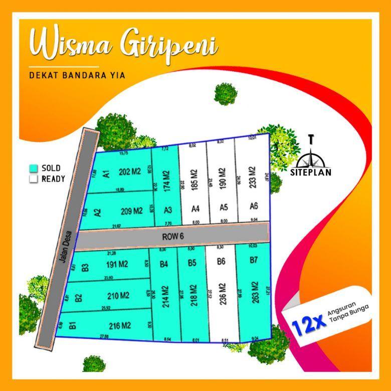 Tanah Kapling Wisma giripeni 1 Wates, Diskon 25%