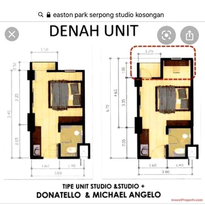 Apartement Siap Huni di Aeston Park Serpon, Jl. Raya Astek Lengkong Gudang Tangerang Selatan