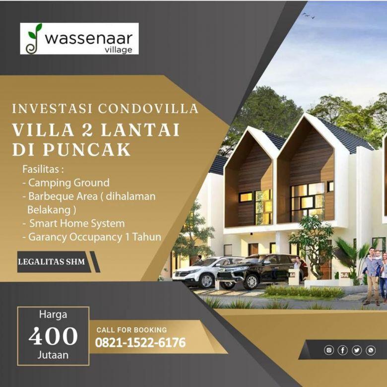 Villa Dijual Murah Fasilitas Barbeque Area Di Puncak Cipanas