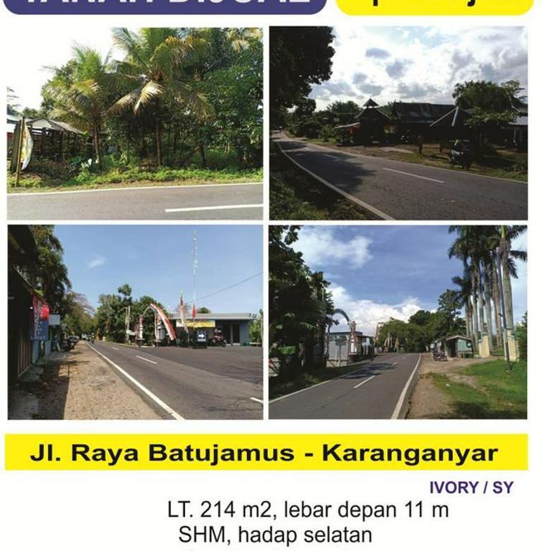 tanah prospektif, tepi Jl. Raya Batujamus - Mojogedang, Karanganyar.