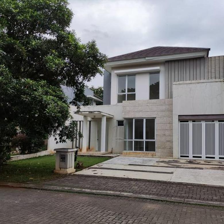 Rumah 2 lantai hadap taman lokasi terbaik De Park BSD City