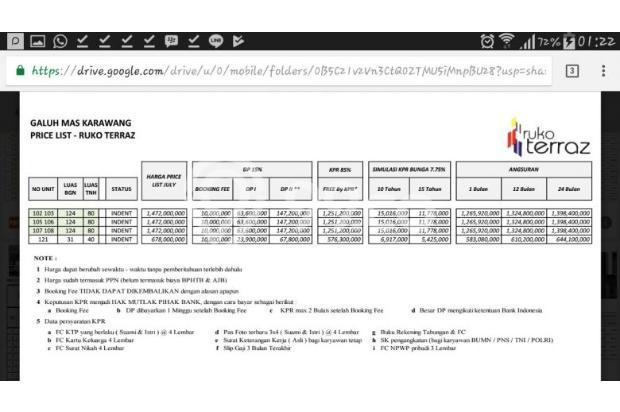 ruko di karawang barat, Cicilan hanya 390 ribu per hari 13394148