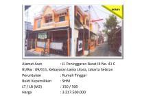 Aset Sitaan Rumah Tinggal Kebayoran Lama Utara Jakarta Selatan