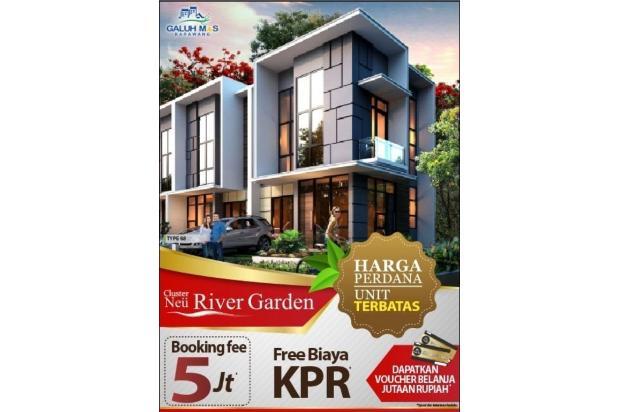 promo dahsyat neu rivergarden, rumah baru 2 lantai karawang barat