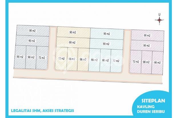 Tanah Kaveling Duren Seribu, Depok Aman Transaksi, SHM: Luas 72 M2 13427179