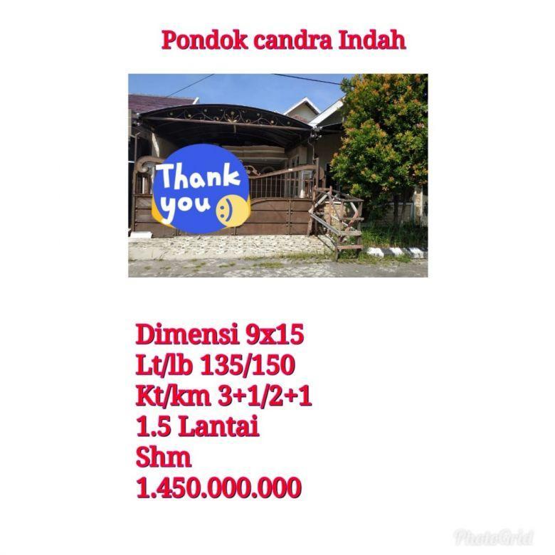 Rumah Murah Pondok Candra Indah Sidoarjo Bebas Banjir Nego