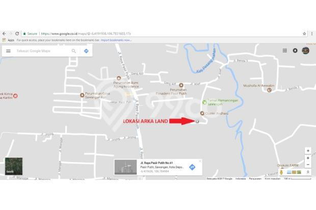 Jual Tanah Kaveling Konsep Cluster di Bedahan, Sawangan, Depok: SHM 16047825