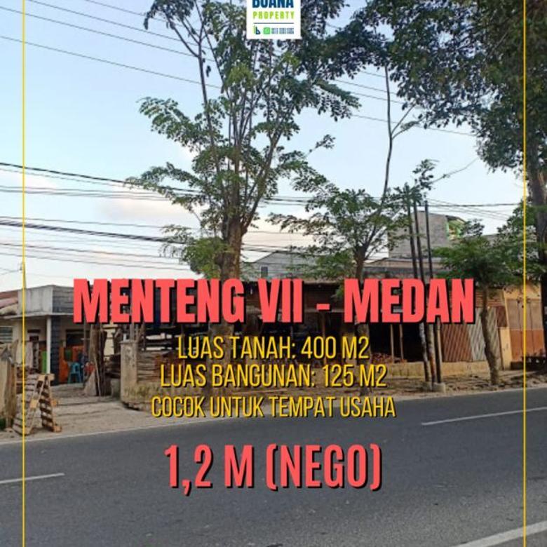 Rumah Tanah Luas Hook Pinggir Jalan Menteng 7 Medan