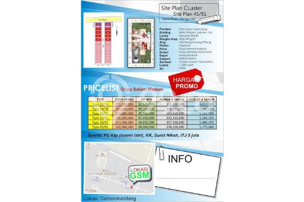 Dijual Rumah Aman dan Nyaman di Griya Salam Madani, Malang 16226637