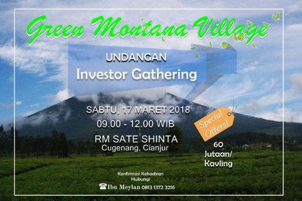 Investasi Kavling Villa Puncak Cipanas, Green Montana Village 16224537