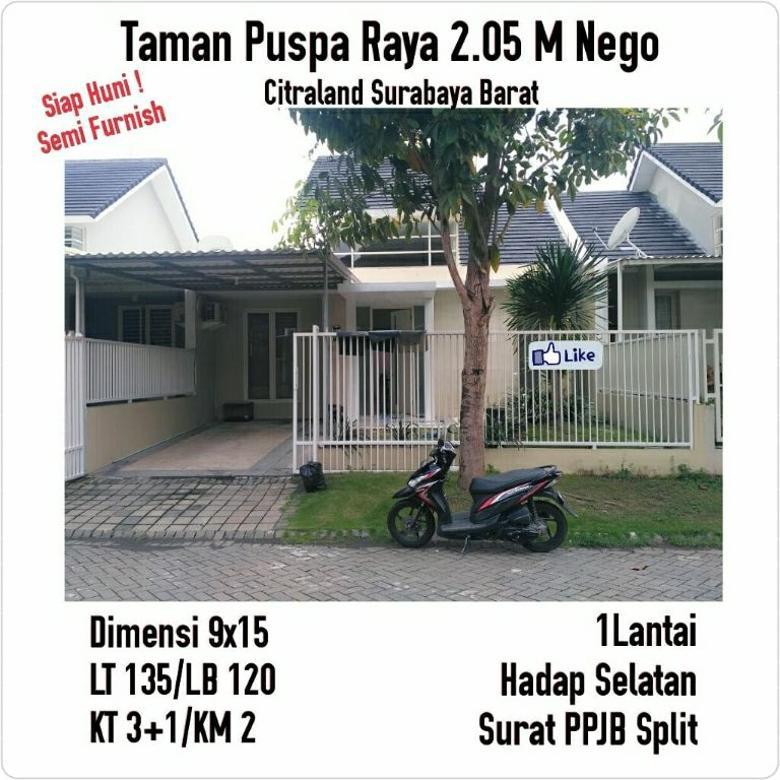 taman Puspa raya Citraland Surabaya barat siap huni