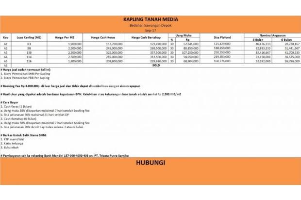 Jual Tanah Depok, Pilih Kaveling Sawangan: Siap Langsung Bangun Rumah 14418071