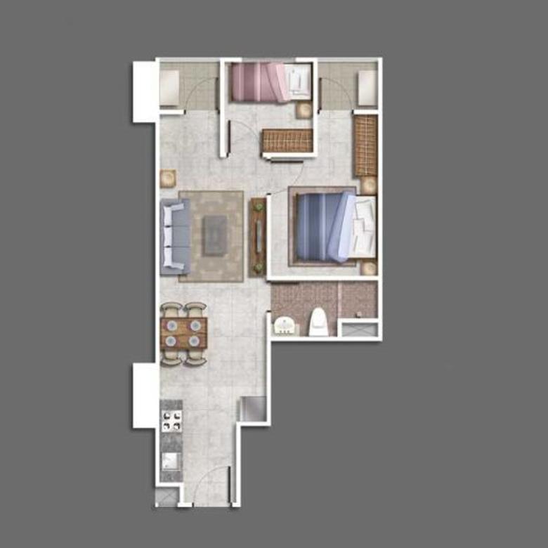 Dijual apartemen grand madison jakarta, lantai 8 angka bagus, mewah luxury