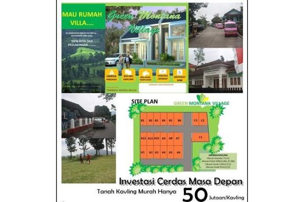 Investasi Cerdas Tanah Kavling Murah Hanya 60 Jutaan/Kav di Puncak - shm 16224388