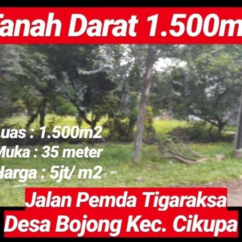 Tanah Cikupa 1.500m2 Dijalan Pemda Kab Tangerang Prop Banten