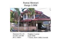 Rumah Pantai Mentari Surabaya Row Lebar 4 Mobil Furnish Siap H