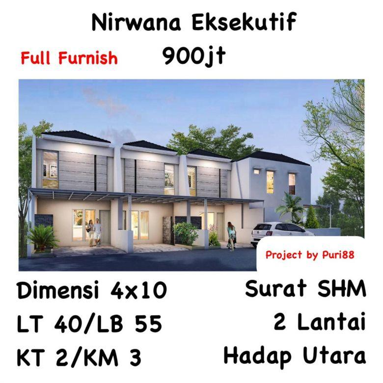 Rumah Nirwana Eksekutif Surabaya 2 lantai, SHM, Dekat MERR
