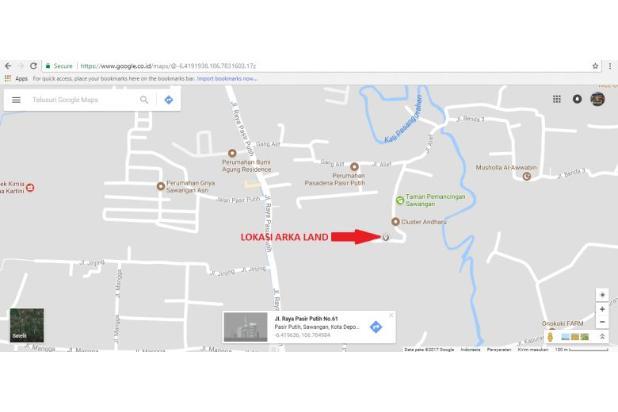 Jalan 5 Meter, Luas 90-an M2, 11 Unit, SHM: Kaveling Depok Kota 13244250