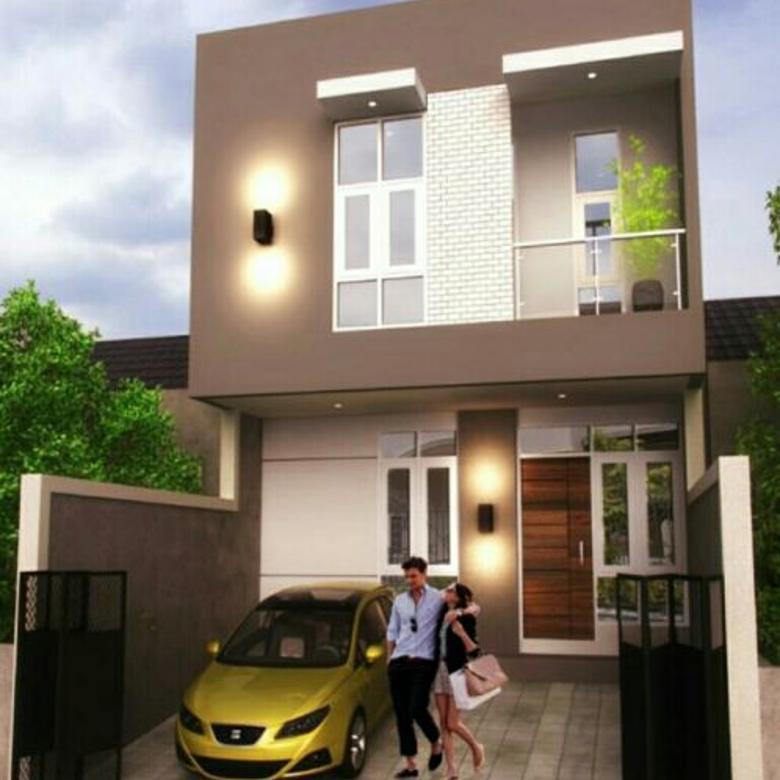 Dijual rumah baru uk 6x15m bangunan modern di taman ratu