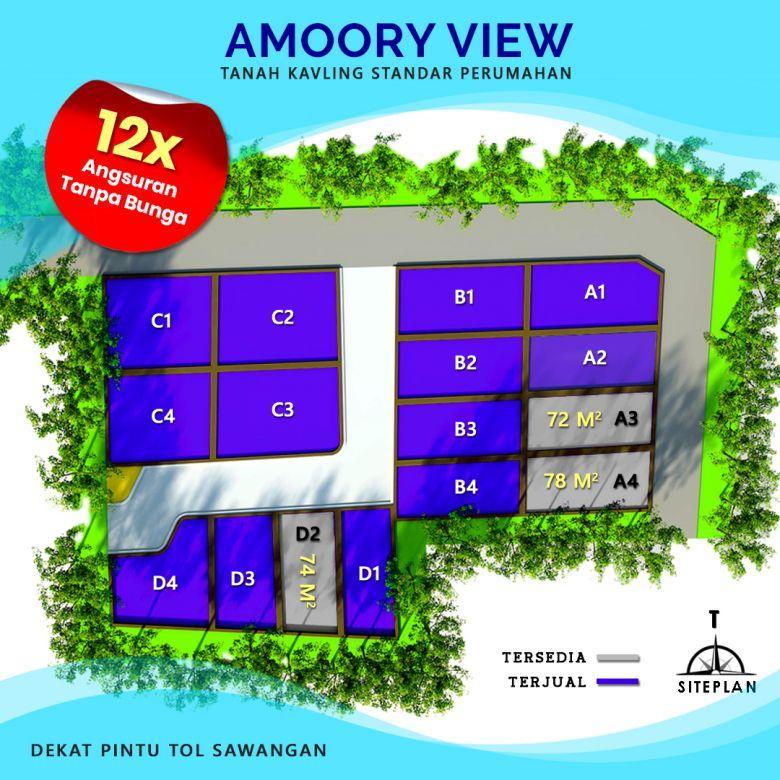 Kavling Amoory View Bangun Rumah Hemat 150 Jt, SHM Pecah