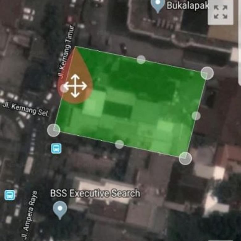 Dijual Tanah Komersial Strategis di Kemang Timur Jakarta