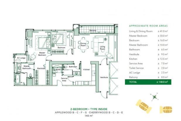 Rp38,8jt/bln Apartemen Disewa