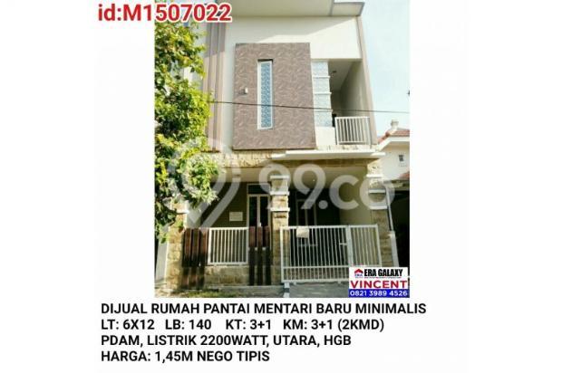Dijual Rumah Pantai Mentari Baru Minimalis 6155183