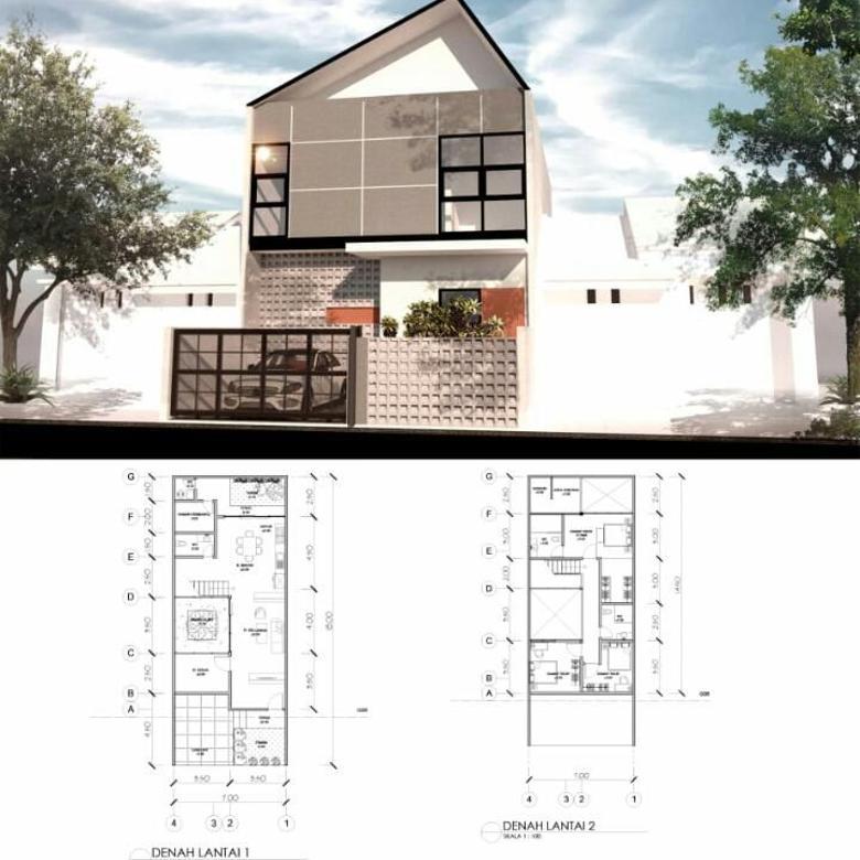 # Rumah Baru Modern Minimalis (Bangunan 2 Lantai) Dijual Di Sayap Buahbatu