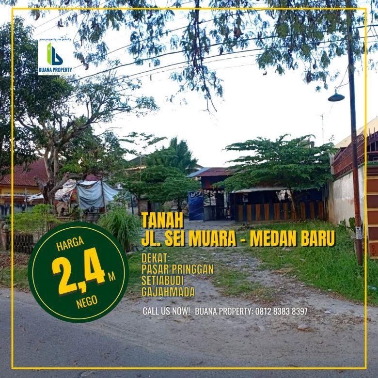 Tanah Murah di Medan Baru, Jl Sei Muara, Babura Medan