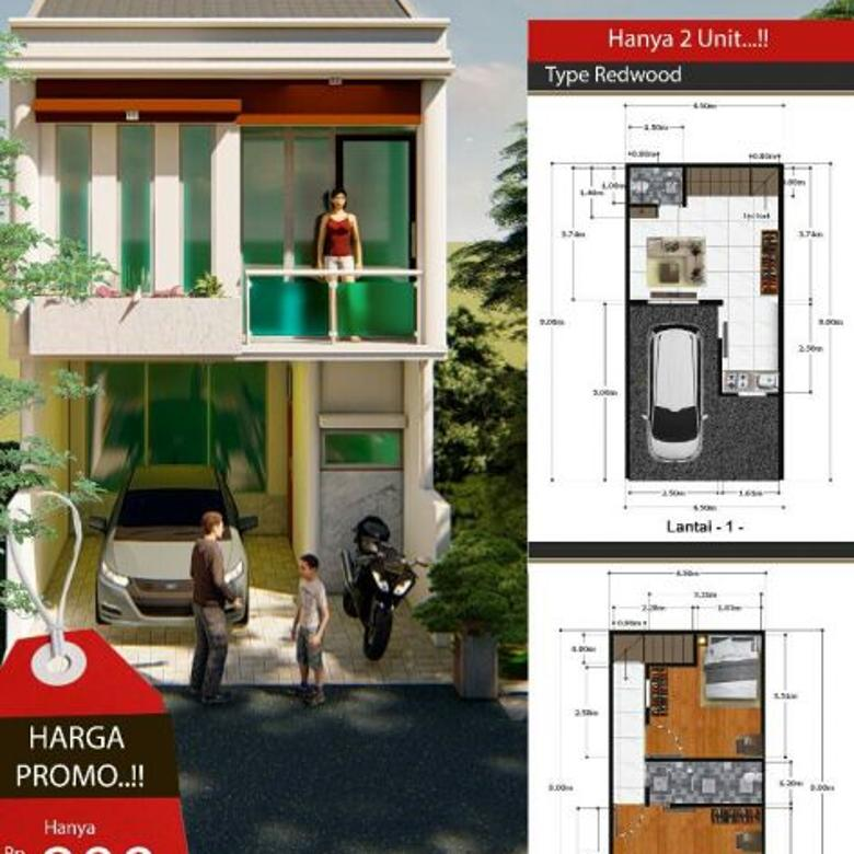Rumah Cantik Minimalis 2 lantai 2 kamar tidur Johar Baru