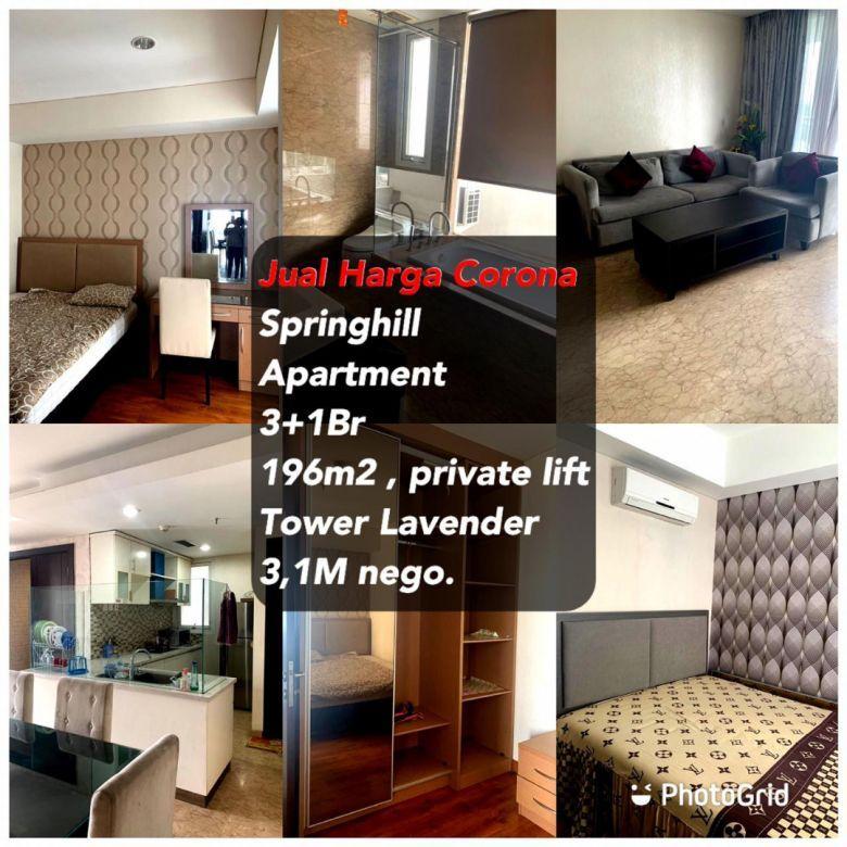 Dijual Murah Apartemen Springhill Kemayoran, Lavender, Private