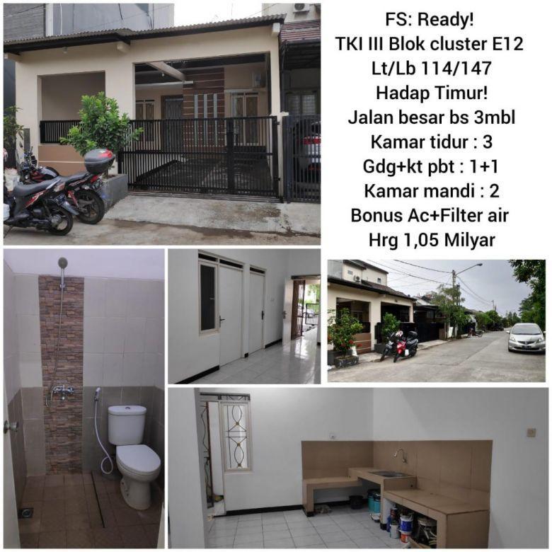 Rumah Komplek Taman Kopo Indah III Cluster Bandung Full renovasi