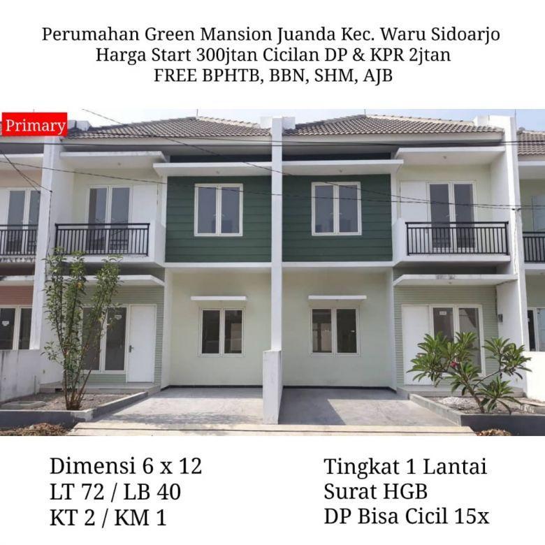 rumah green mansion juanda waru free biaya murah strategis