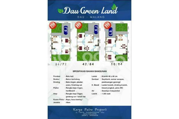 Rumah baru dan murah di Dau Green Land Malang 18272993