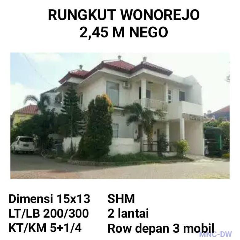 Rumah dijual rungkut wonorejo surabaya Nego