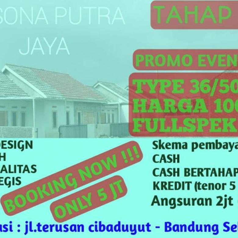 Rumah minimalis full spek 100 juta di Pesona Putra Jaya