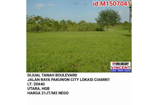 Dijual Tanah Boulevard Jalan Raya Pakuwon City 6154900