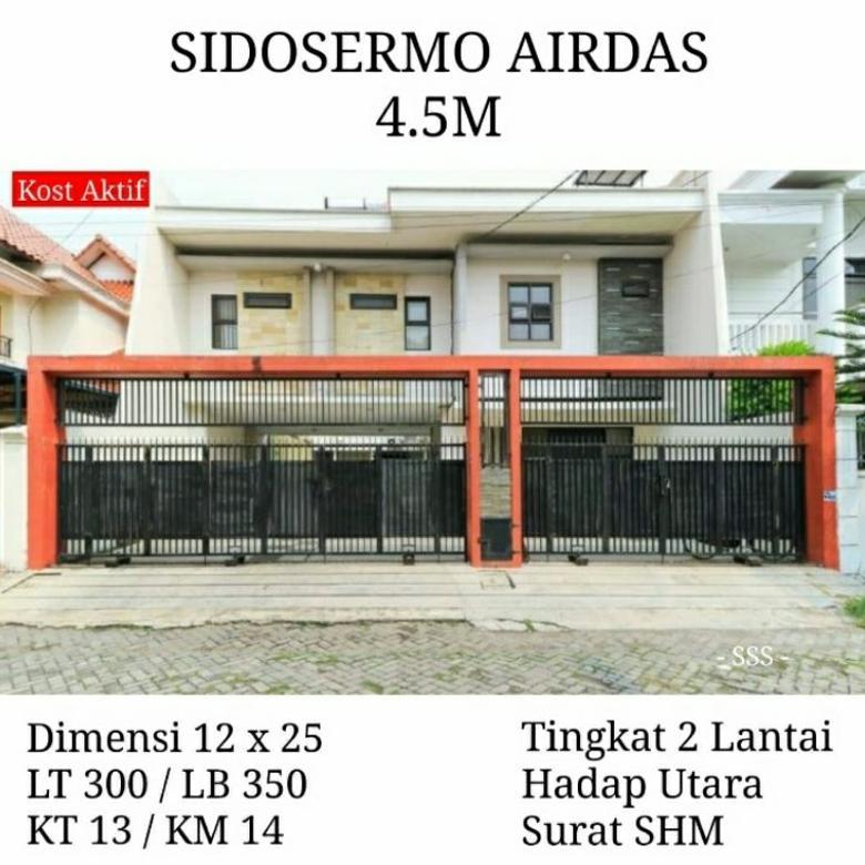 Rumah kos aktif sidosermo airdas wonokromo surabaya dekat ubay