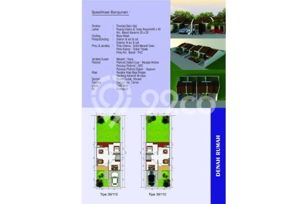 Rumah Dijual Tanah Luas 110 Meter di Pengasinan Sawangan Depok 9586991
