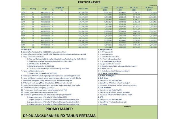 PROMO MARET: KPR DP 0 %, Suku Bunga Hanya 6 % 16224164